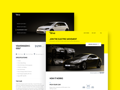 Mercury Drive drive electric vehicle yellow ux ui product design mercury tesla electric car bee app bunny sam