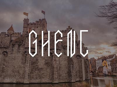 Ghent typography type lettering gravensteen castle europe gent ghent belgium bunny sam
