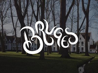 Bruges traveling travel type lettering typography belgium brugge bruges bunny sam