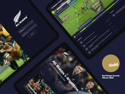 Play in the Grey best awards 2020 best awards new zealand rugby sport track all blacks ai ux ui bunny sam