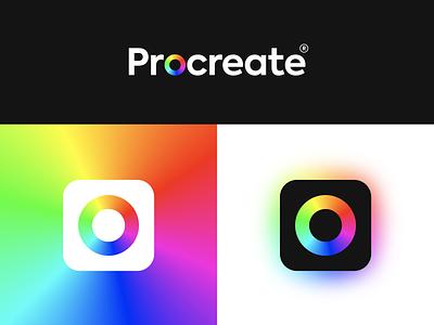 Procreate colourful colorful rainbow palette colour color rebrand procreate pocket procreate app procreate branding design icon bunny sam
