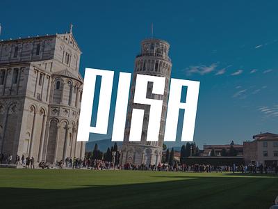 Pisa font logo design typography lettering italy pisa