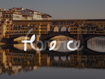 Florence travel type typography lettering bunny sam italy florence