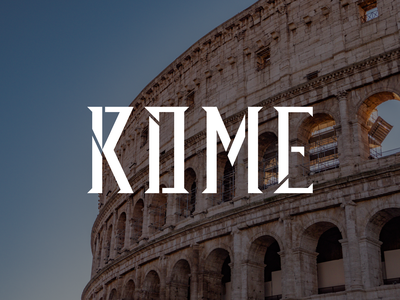 Rome type typography lettering bunny sam italy roma rome