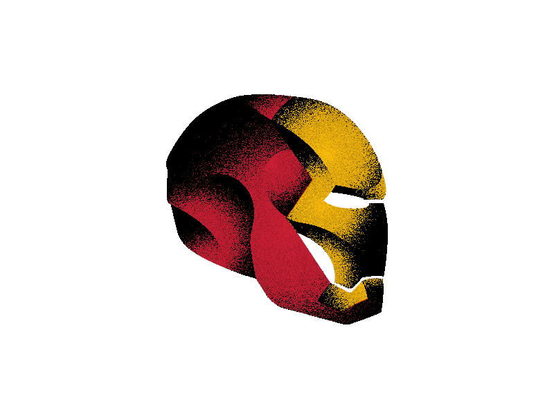 Throw a little hotrod red in there gold red jarvis stark tony man iron sam illustration bunny art abstract