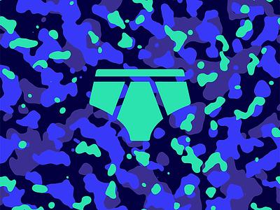 Skinny Dip Camouflage underwear undies night blue water skinny dip camouflage camo
