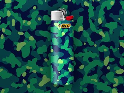 Moss BIC Lighter