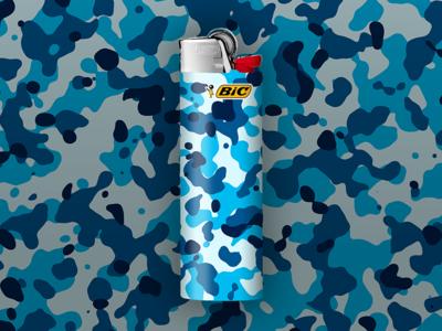 Frost BIC Lighter