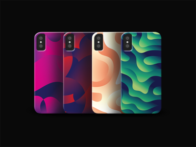 iPhone X Cases sam bunny smooth colourful colour lines abstract gradient pattern digital