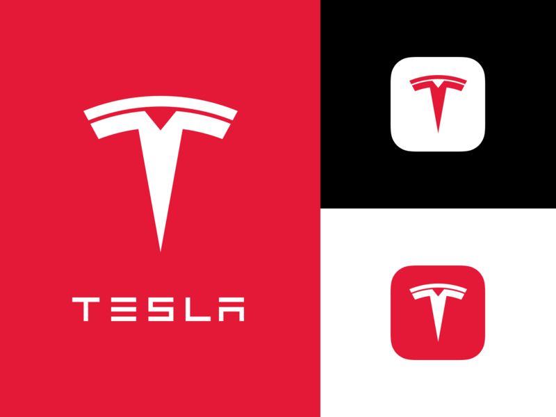 The New Tesla concept rebranding rebrand refresh tesla icon app branding vector design logo bunny sam