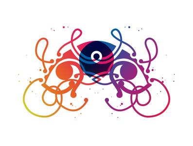Hongi colour multiply blend gradient colourful maori art maori illustration bunny sam
