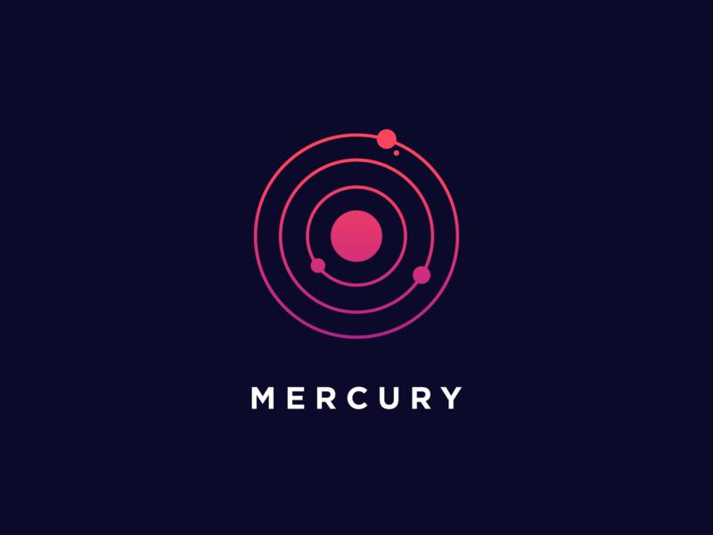 Mercury orbit planets mercury app design ui logo icon illustration bunny sam