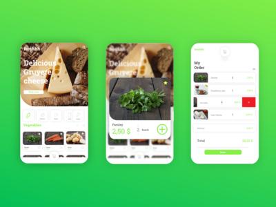 Freshhh Grocery App UI Design