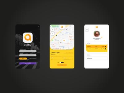 Avatar App Design Concept UI
