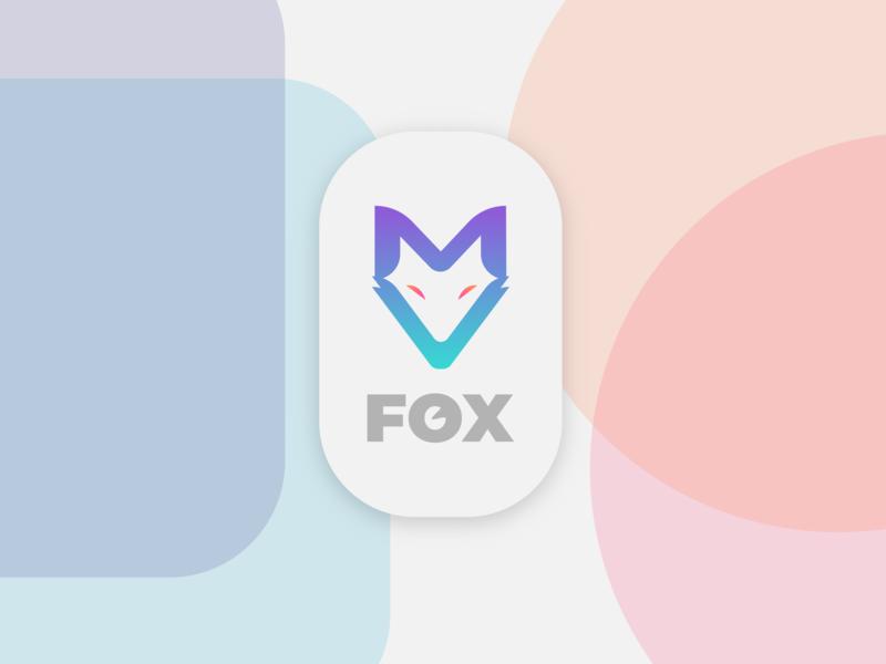 F O X digitalart design ux ui web illustrate illustrator inspiration art logodesigner fox logo a day logo 2d logodesign logo