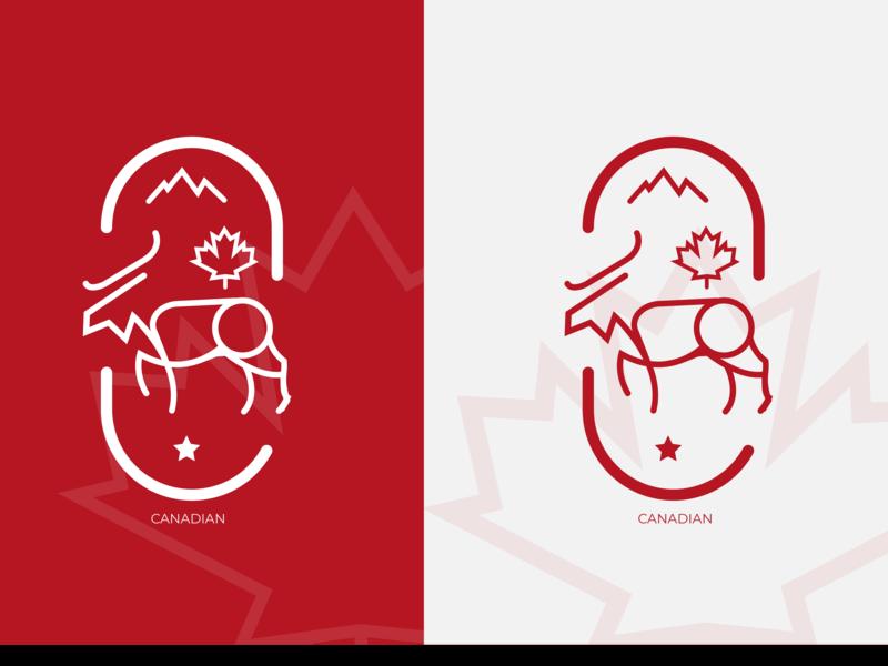 CANADIAN Logo Design logoart artcore inspiration ux ui logodesigner logodesign logodaily logo 2d logo