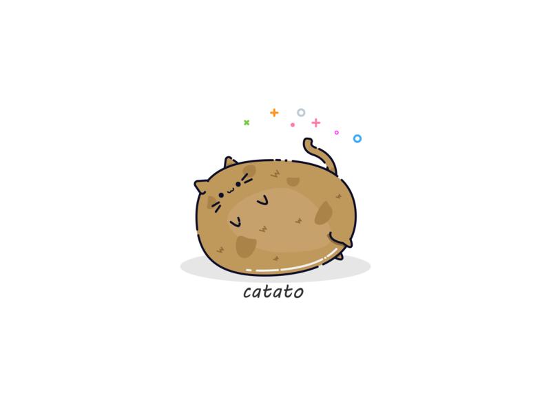 CATATO cutie illustator cat illustration illustrate cat kitten potato neko kawaii cat kitty cute stickerdesign sticker art sticker