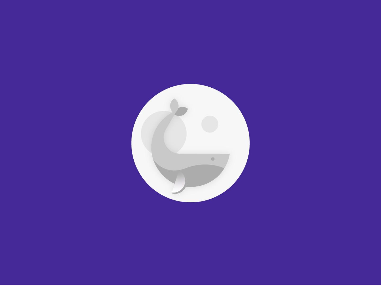 Whale logoinspire inspiration logodesigns whales fulmoon moon vector digitalart icon design logodesign logo icon whale