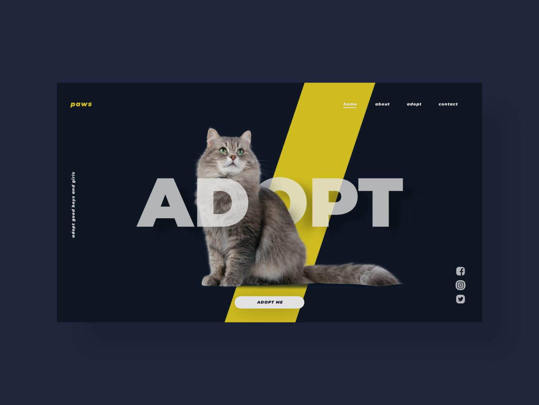 Adopted uidesign ux uiux ui digitaldesign inspiration frontend design front end front-end front frontend website design webdesign web design website web