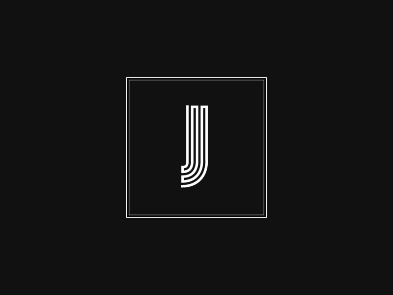 Letter J Monochrome