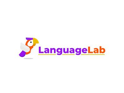 Language Lab Logo parrot artwork icon art illustrator logos logotype logo design inspiration logodesign logo