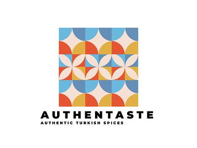 Authentaste Logo Design inspiration logo design symbol montserrat colorful logo turkish colorful inspiration logos logodesign logotype logo design logo