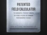 Patented Field Calculator