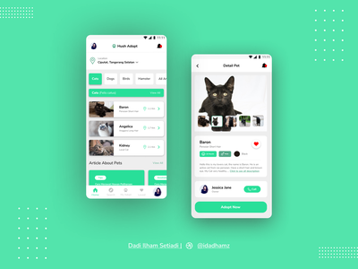 Hush Adopt [Pet Adoption Apps] login page app ui design uidesign mobile app webdesign portofolio mobiledesign ui design