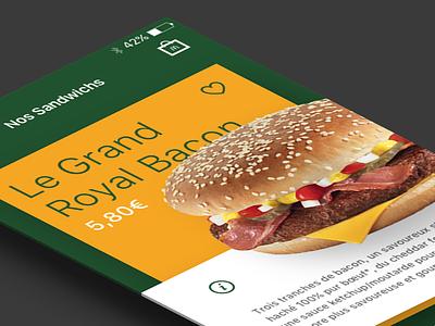 [WIP] French McDonald's app fastfood food burger sketchapp interface ios app mcdonalds mcdo