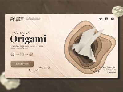 Landing page   Origami figma wix tilda webflow website logo web color concept art landingpage origami peper landing design ux ui