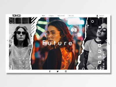WEB   TOPMOD   Concept tilda wix webflow future night girls design dark clean style modern website concept color black  white landing web website ux ui