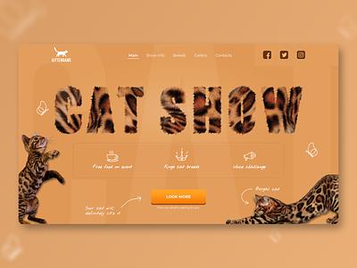 Landing page   Concept   Kittengame wix tilda webflow cta show main cat brown concept color web landing design ux ui