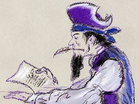 Pirate Writing A Letter