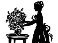 Female Silhouette With Flowers By Irina Korsakova