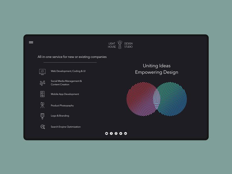 Creative Studio Mockup creative agency company branding web design ui