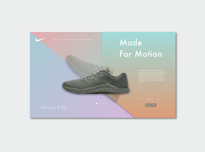 Nike Metcon Product Page