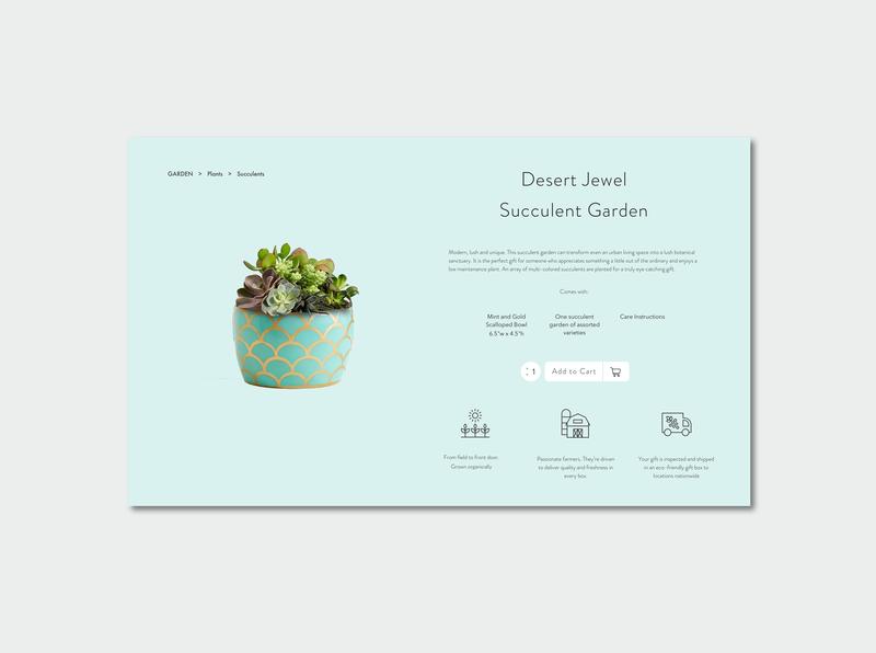 Flower Shop product page products flowershop company branding web design ui