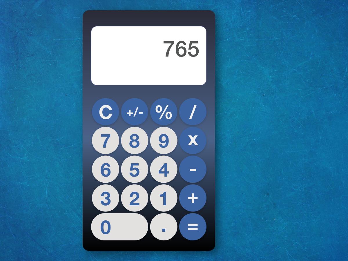 DailyUI 004 - calculator dailyui004 design design of the day calculator webdesign adobexd ui dailyui
