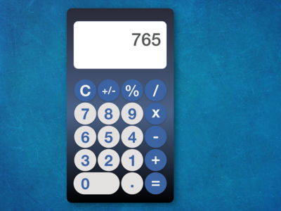DailyUI 004 - calculator