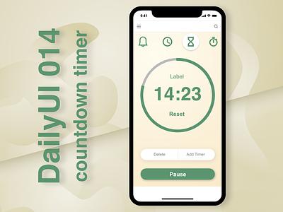 DailyUI 014 - countdown timer web ui daily ui design app user interface adobexd dailyui