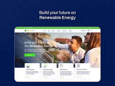 UW Energie Expert / Website and E-Commerce design green e-commerce website energy solar panel