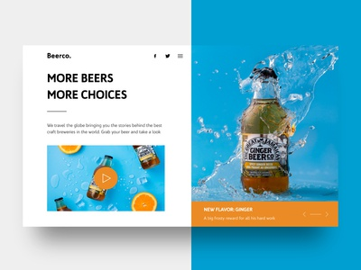 Landing Page for Beer Company