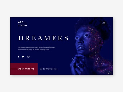 Landing Page for Photography Studio