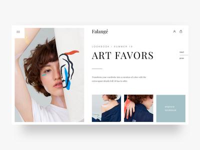 Fashion Shop Landing page