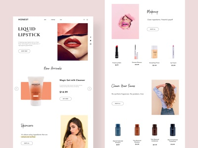 Cosmetic Web Ui By Mmaggie On Dribbble