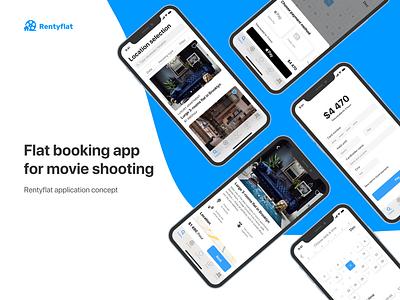 Flat booking app for movie shooting rental app booking app rent flat iphone ios booking