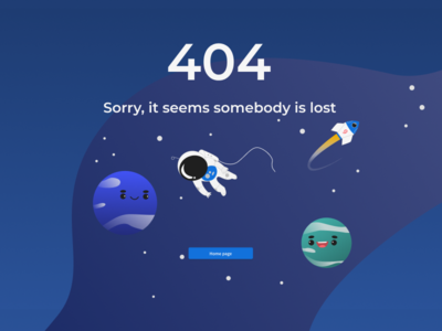 Outer space 404 page