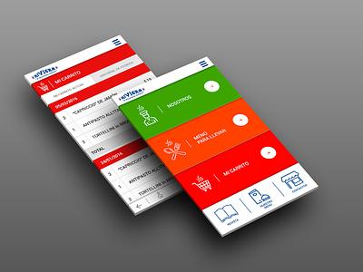 Riviera Ristorante mobile app android app uxdesign uidesign ui  ux