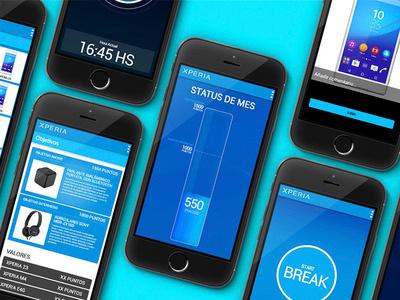 Sony EXPIRIA android app mobile app uxdesign uxuidesign ui ui  ux