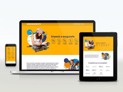 Asegurandote design website logo web branding vector ux ui icon uxuidesign ui  ux uidesign uxdesign